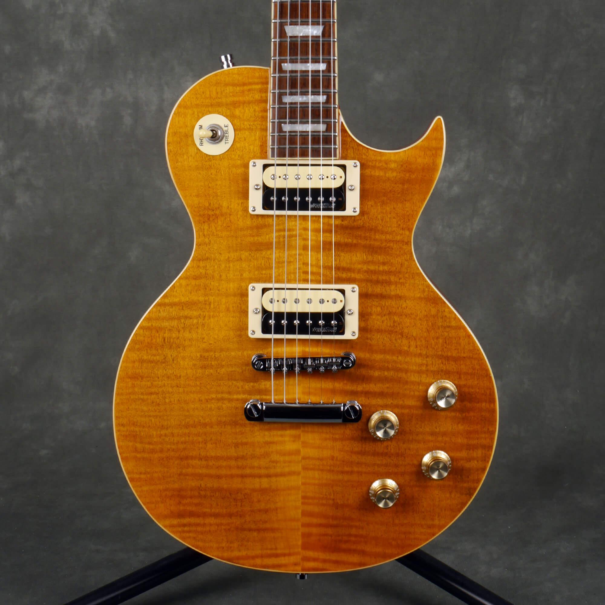 Vintage V100AFD Paradise Electric Guitar - Flamed Amber - 2nd Hand