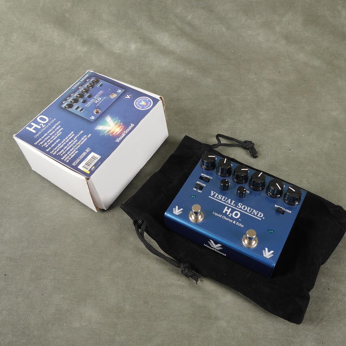 H20 Liquid Chorus & Echo FX Pedal w/Box - 2nd Hand