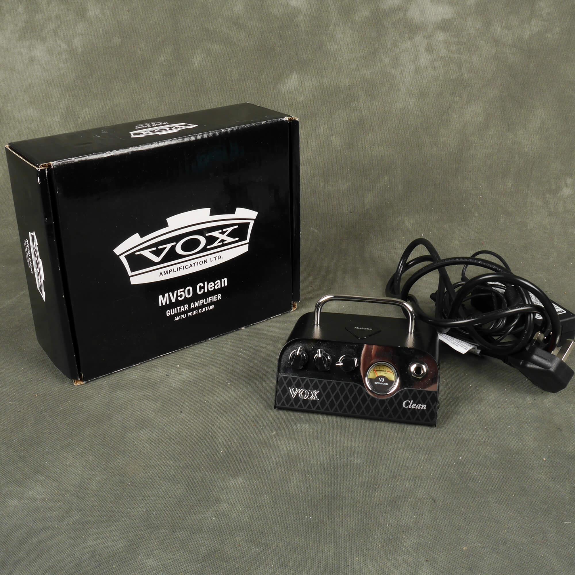Vox MV50 Clean Mini Amplifier Head w/Box & PSU - 2nd Hand