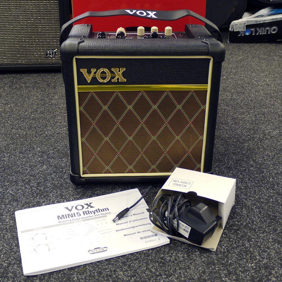 vox mini 5 rhythm classic combo amp w box 2nd hand rich tone music. Black Bedroom Furniture Sets. Home Design Ideas
