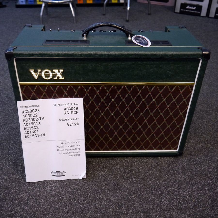 vox ac15c1 ac15 custom combo amp british racing green 2nd hand rich tone music. Black Bedroom Furniture Sets. Home Design Ideas