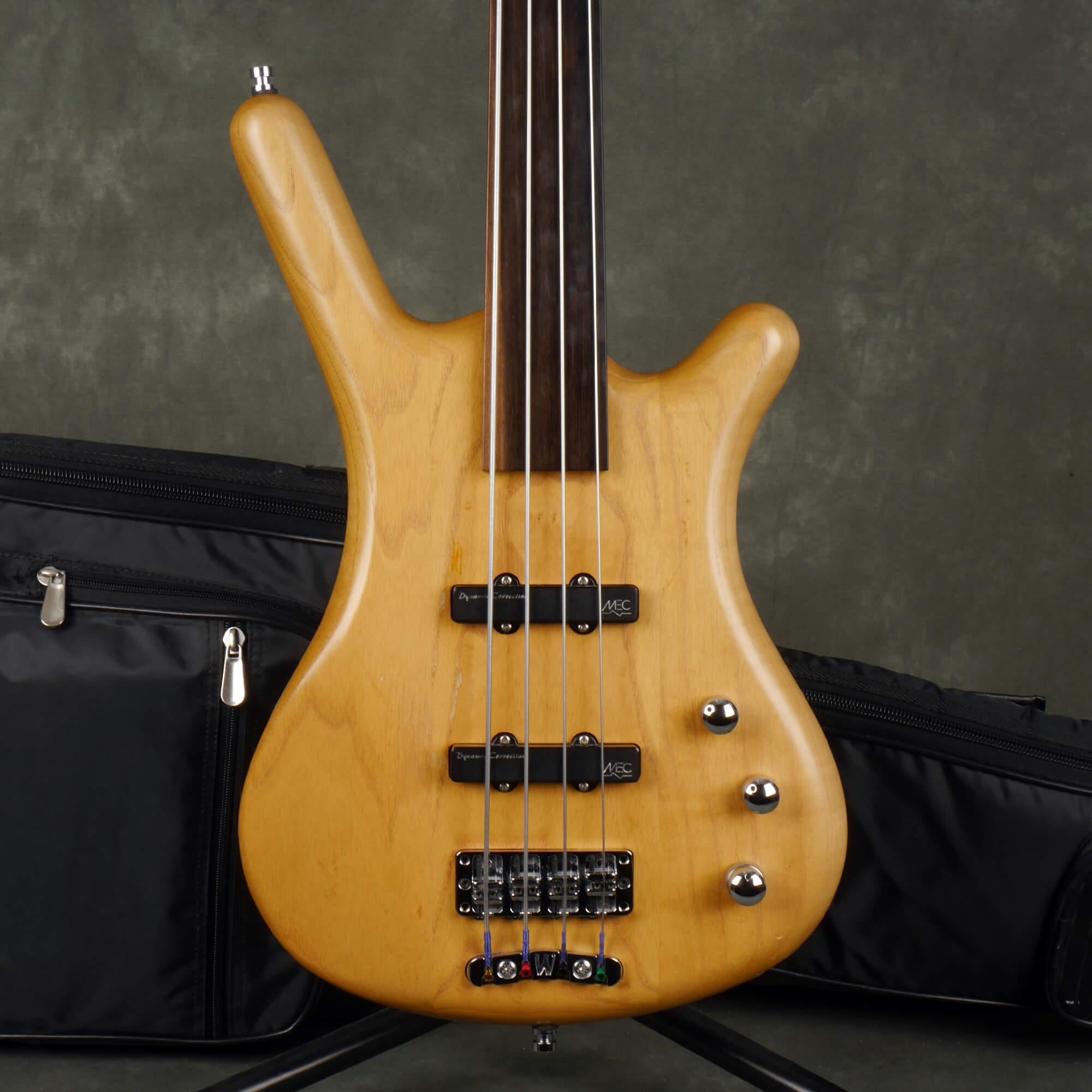 Warwick Corvette Fretless Bass Guitar - Natural w/Gig Bag - 2nd Hand