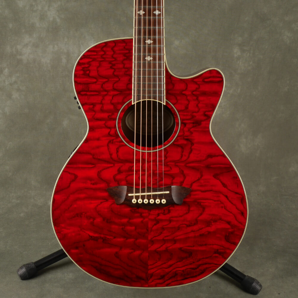 Washburn EA18TR Electro-Acoustic Guitar - Red - 2nd Hand
