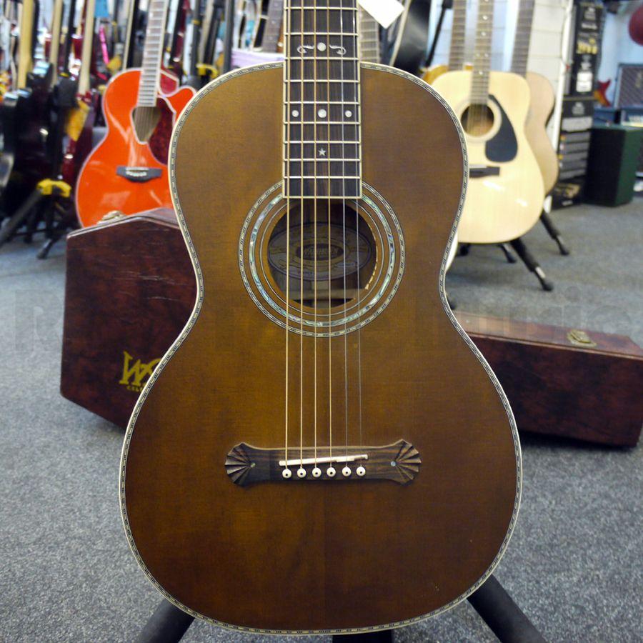 washburn r314kk vintage parlour acoustic guitar w case 2nd hand rich tone music. Black Bedroom Furniture Sets. Home Design Ideas