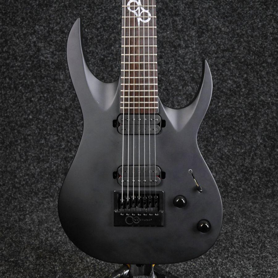 Washburn Parallaxe Solar 17 7-String Electric Guitar - Carbon Black - 2nd Hand