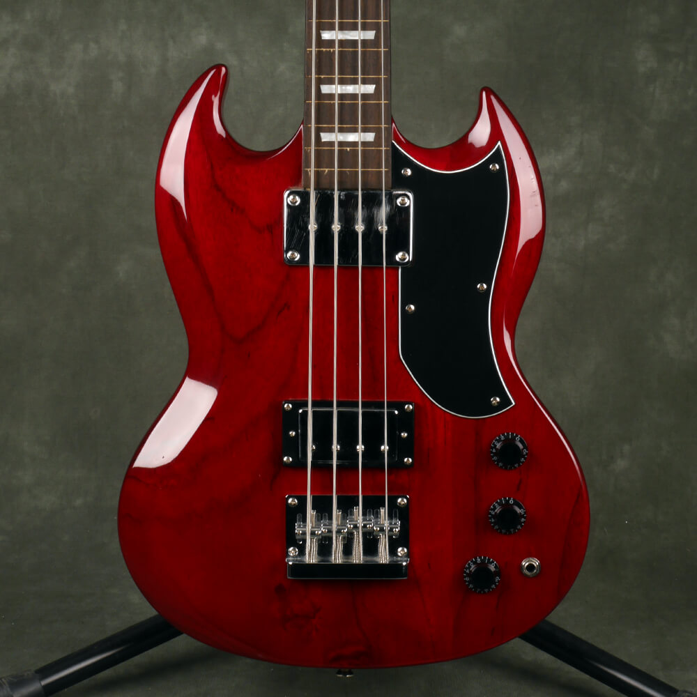 Westfield Fretless Electric Bass Guitar - Red - 2nd Hand