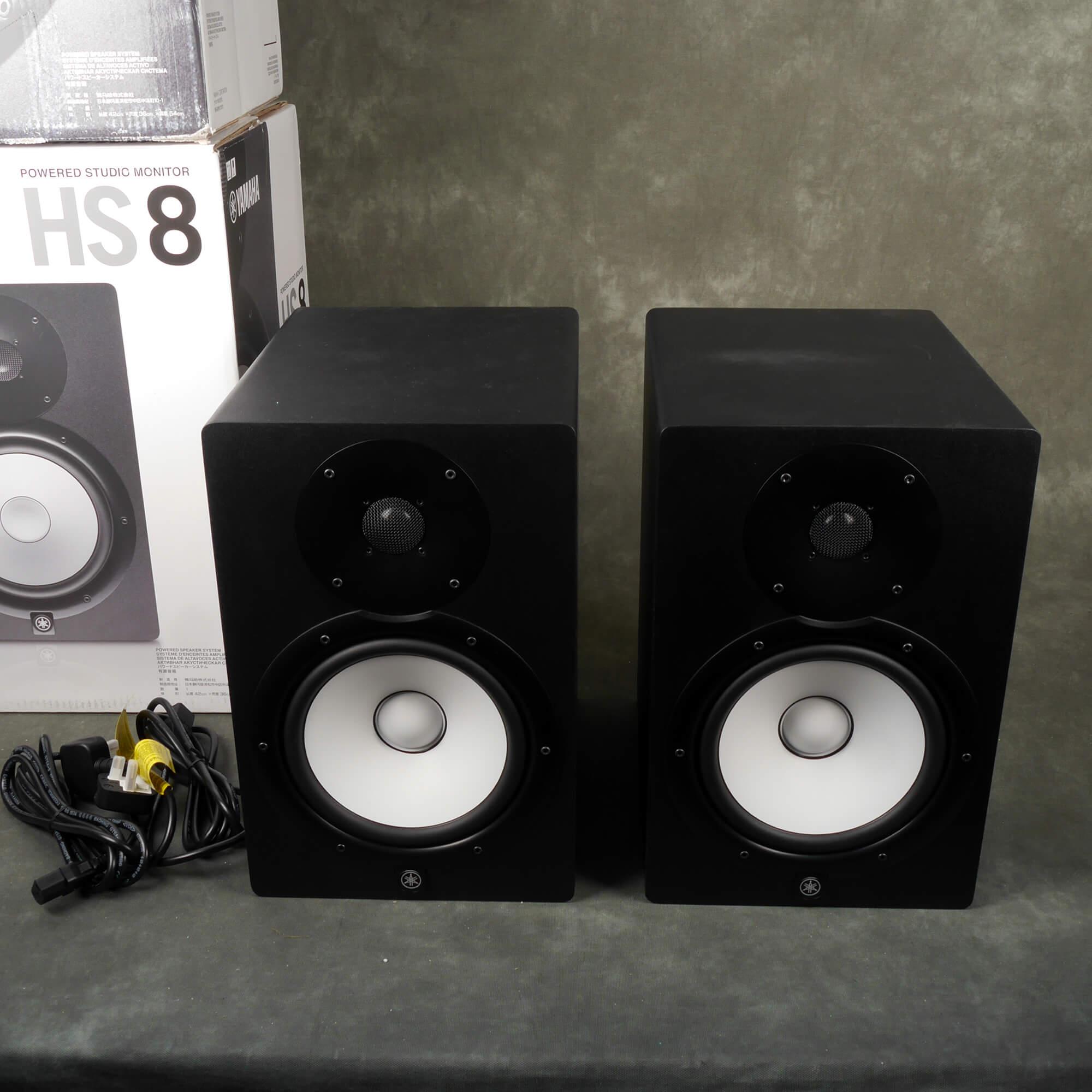 Yamaha HS8 Monitor Speakers - Pair w/Box - 2nd Hand