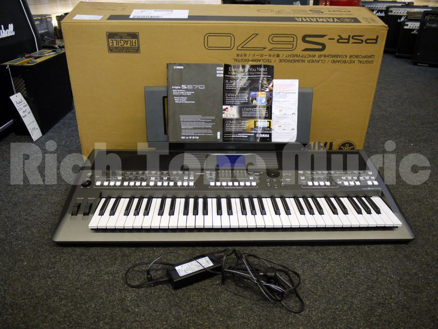 yamaha psr s670 keyboard w box 2nd hand rich tone music. Black Bedroom Furniture Sets. Home Design Ideas