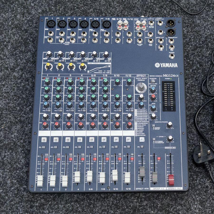 Yamaha MG124CX Mixer w/ PSU - 2nd Hand