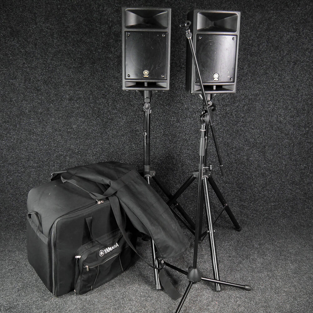 Yamaha STAGEPAS 300 PA System, Case & Stands w/Bag - 2nd Hand