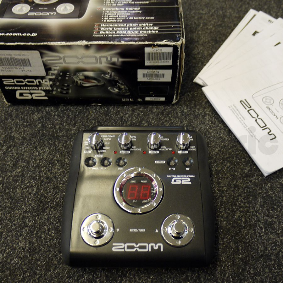 zoom g2 guitar effects pedal w box 2nd hand rich tone music. Black Bedroom Furniture Sets. Home Design Ideas