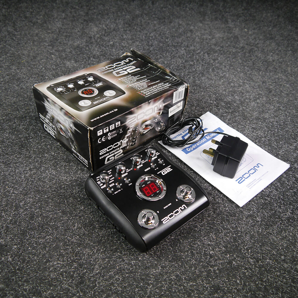 zoom g2 multi effects guitar fx pedal w box psu 2nd hand rich tone music. Black Bedroom Furniture Sets. Home Design Ideas