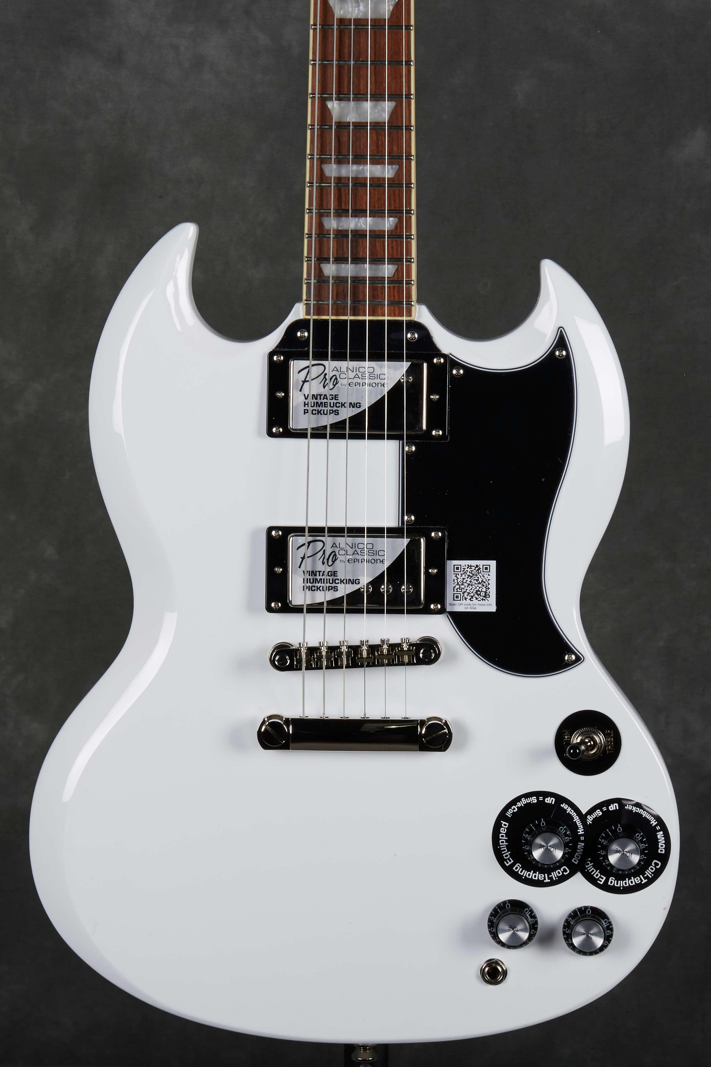 epiphone g 400 pro electric guitar alpine white rich tone music. Black Bedroom Furniture Sets. Home Design Ideas