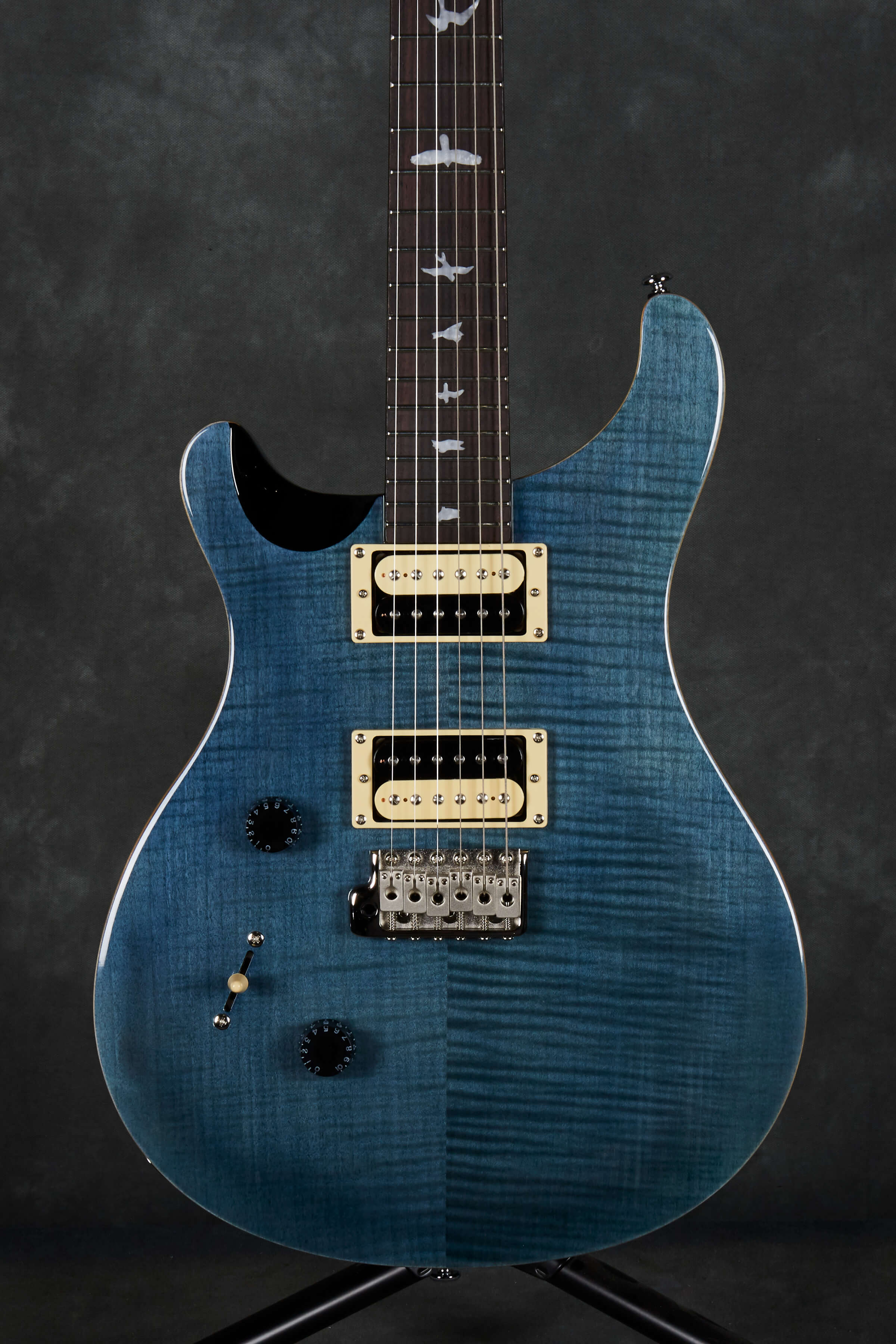 prs 2018 se custom 24 left handed model whale blue rich tone music. Black Bedroom Furniture Sets. Home Design Ideas