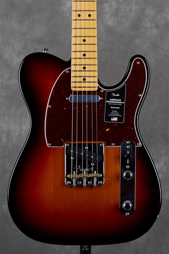 Fender American Professional II Telecaster - MN - 3-Tone Sunburst