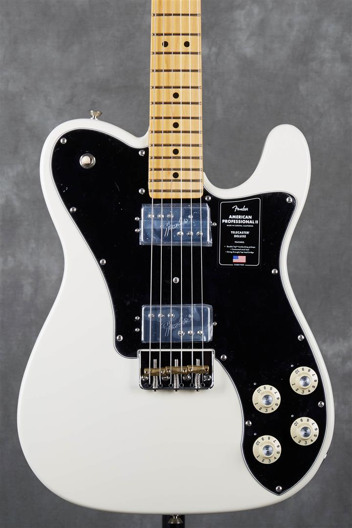 Fender American Professional II Telecaster Deluxe - MN - Olympic White