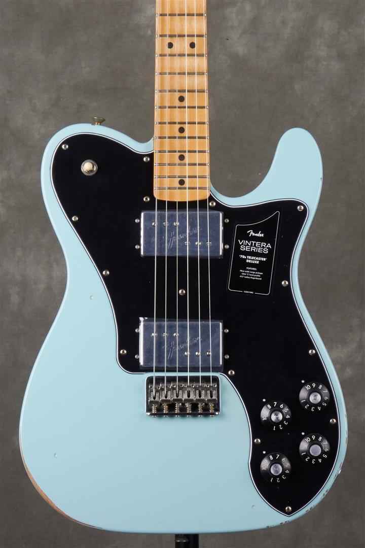 Fender Vintera Road Worn 70s Telecaster Deluxe - MN - Daphne Blue