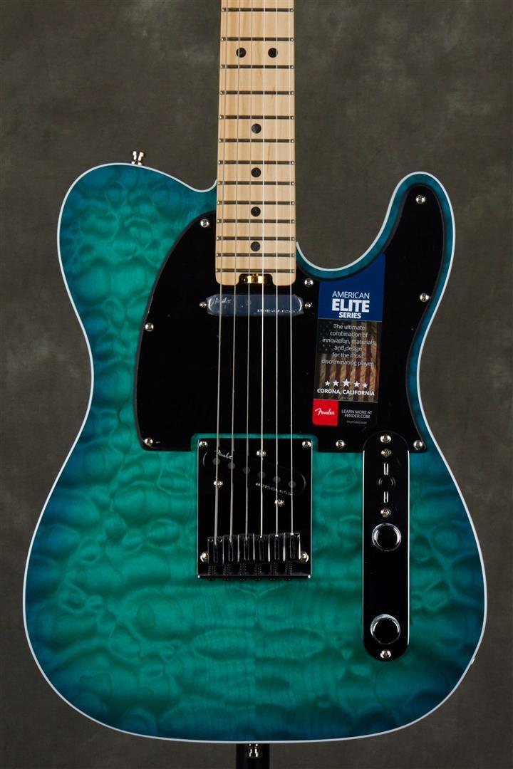 Fender Ltd Ed American Elite Telecaster - QMT - Aqua Marine
