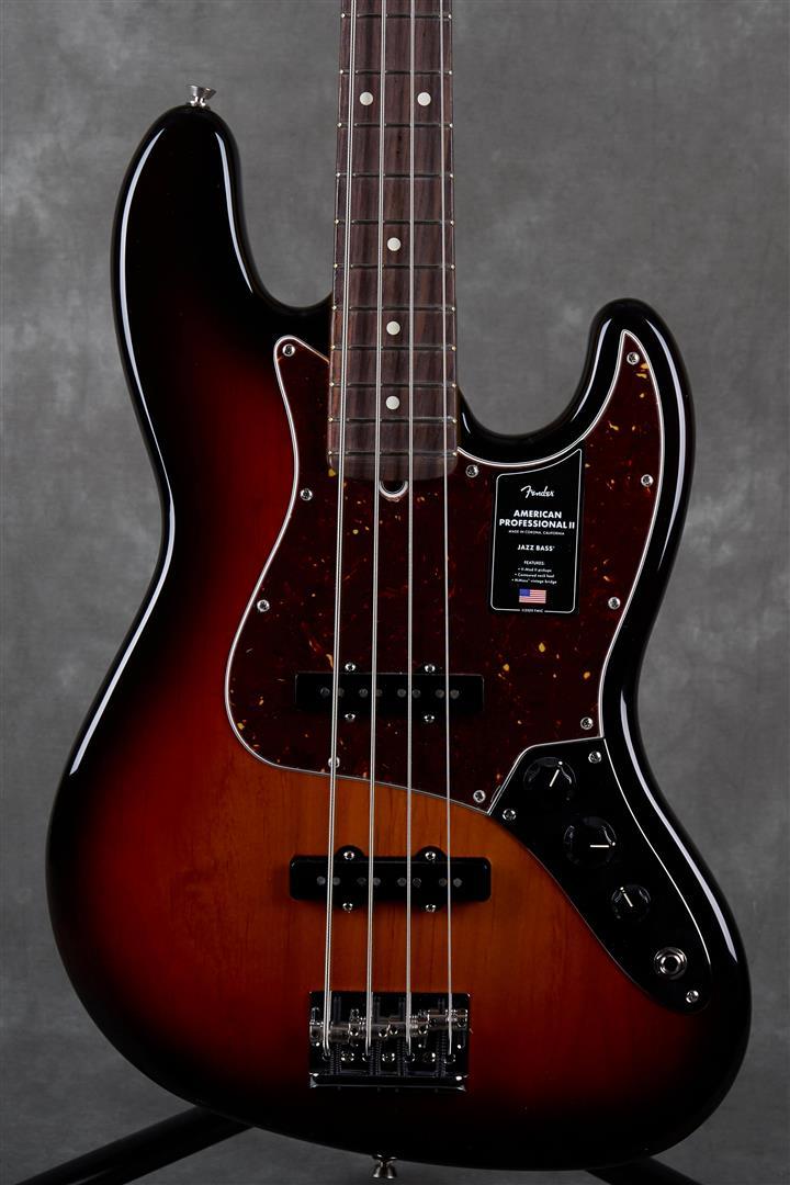 Fender American Professional II Jazz Bass - RW - 3-Tone Sunburst