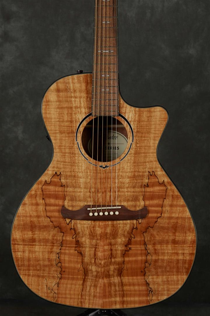 Fender FA-345CE FSR Exotic Wood Electro-Acoustic Guitar - Spalted Maple