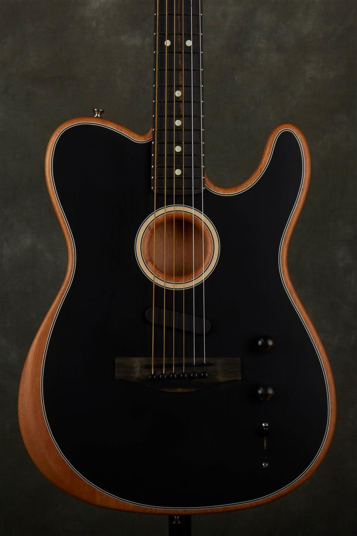 Fender Acoustasonic Telecaster Electro-Acoustic Guitar - Black