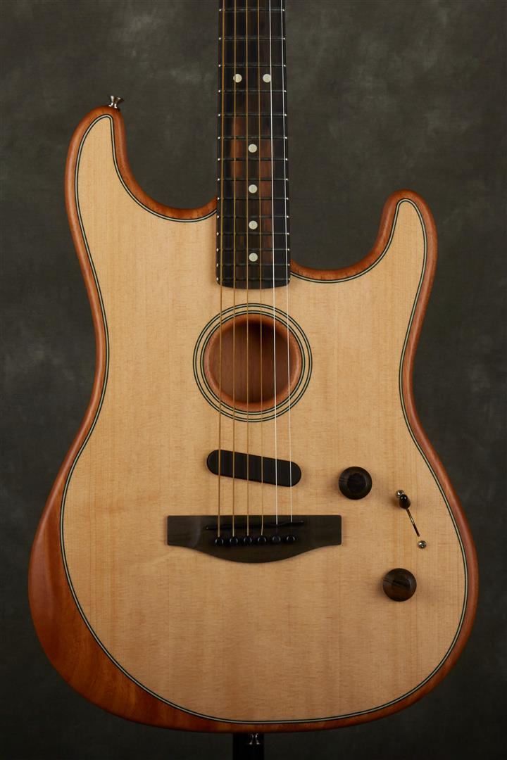 Fender Acoustasonic Stratocaster Electro-Acoustic Guitar - Natural