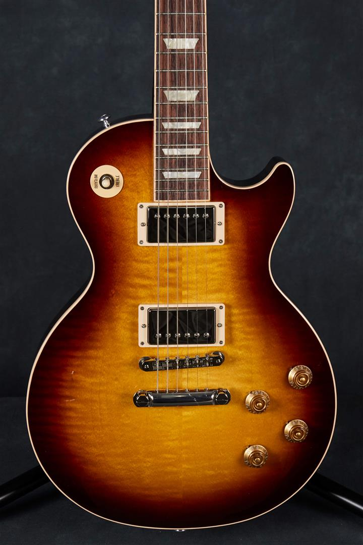 gibson usa les paul traditional 2018 tobacco sunburst perimeter rich tone music. Black Bedroom Furniture Sets. Home Design Ideas