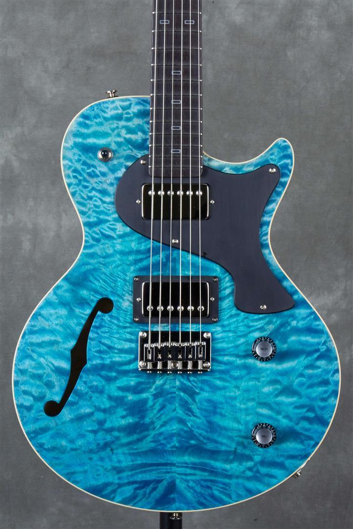 PJD Carey Elite, CT Pickups with F Hole - Sea Blue
