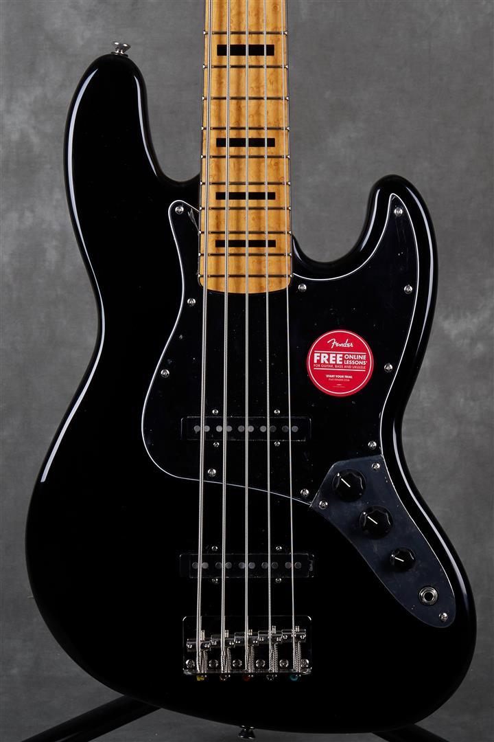 Squier Classic Vibe 70s Jazz Bass V - MN - Black