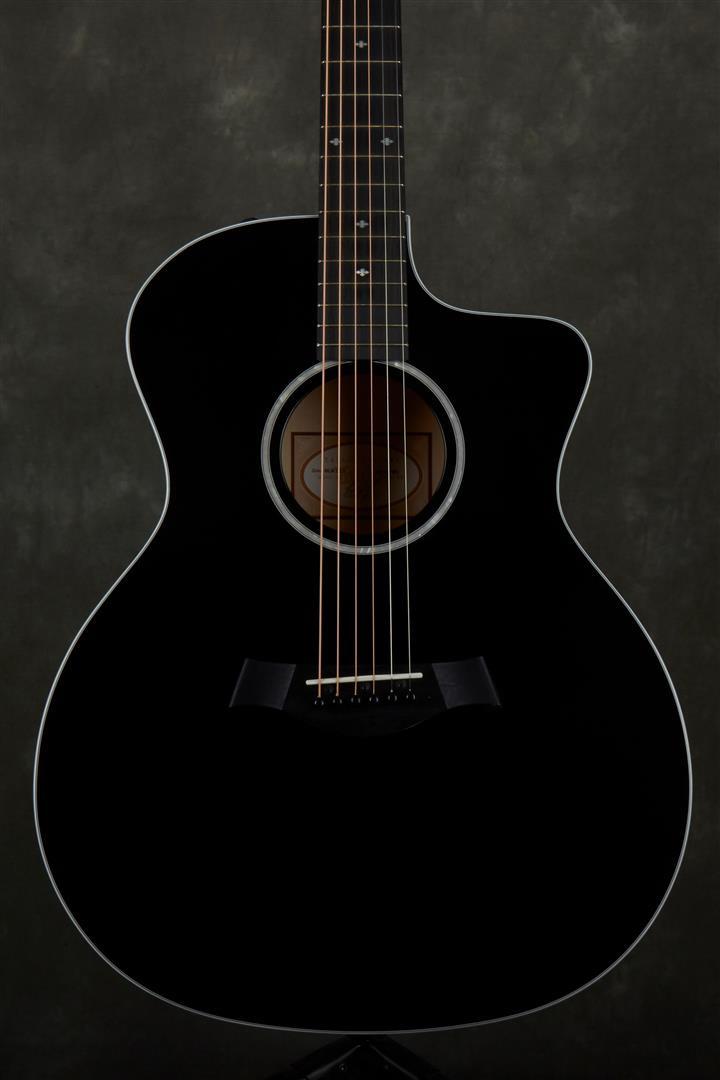 Taylor 214ce-BLK DLX Deluxe Electro-Acoustic Guitar - Black